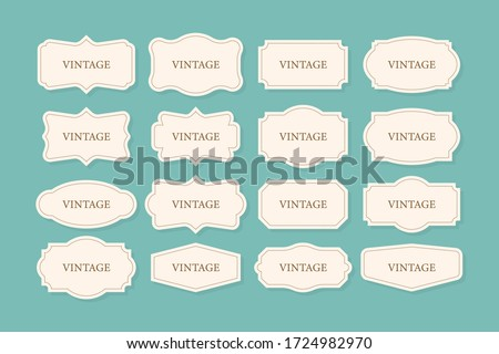 Vintage Frames Set, clipart bundle. Retro collection for decorative design. Frame Retro collection for decorative design. Vector stock illustration.