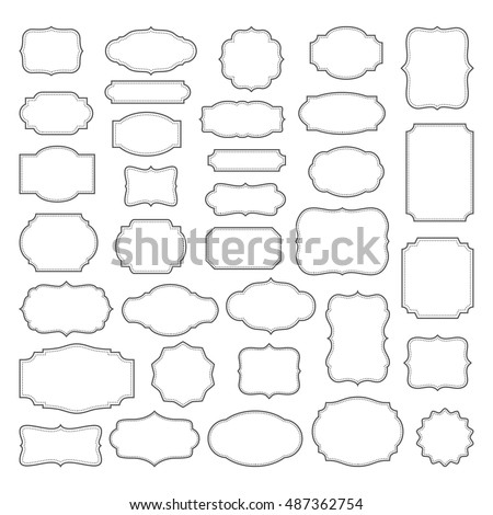 Retro Frames Vector Set | Free Vector Graphics | All Free Web ...