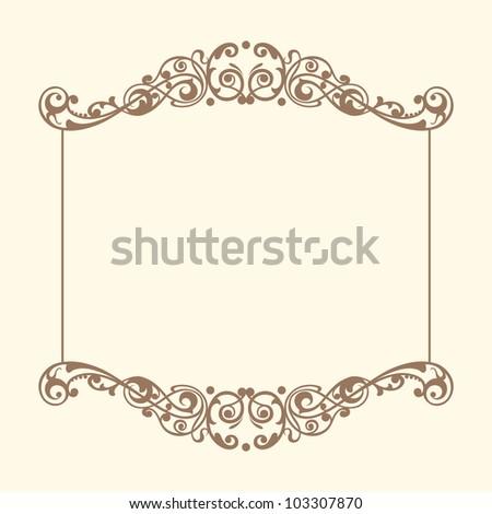 Vintage Frames Vector - 103307870 : Shutterstock  Shutterstock Border Design Free Download