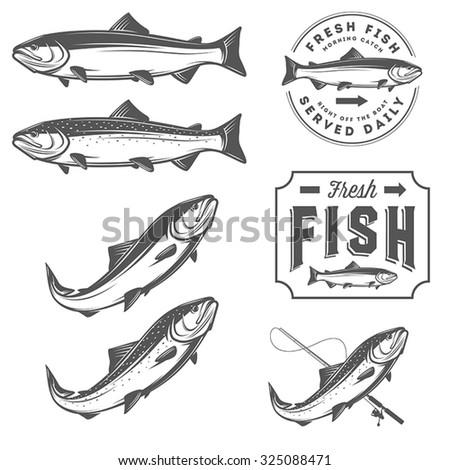 vintage fresh fish salmon