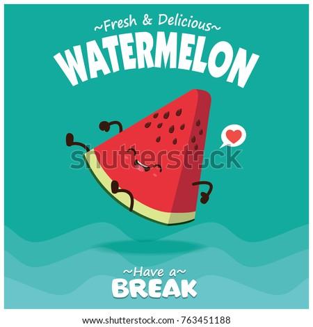 vintage fruit poster design...