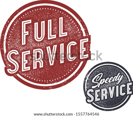 Vintage Full Service and Speedy Service Rubber Stamp