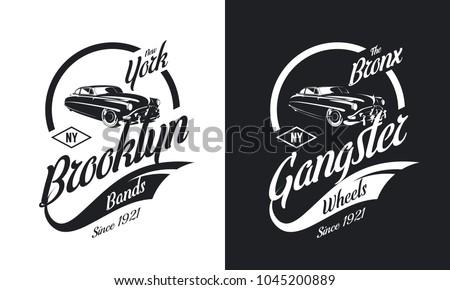 vintage gangster vehicle black