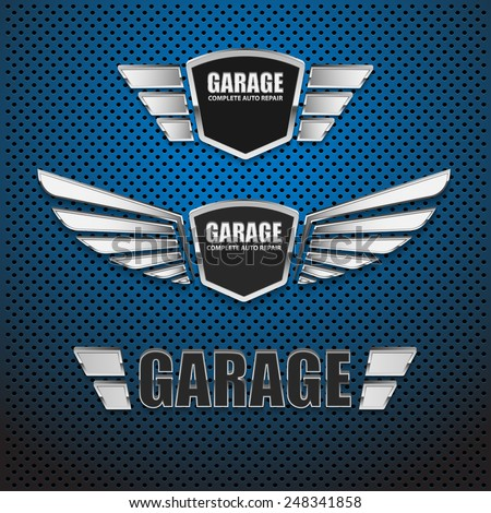 vintage garage retro label
