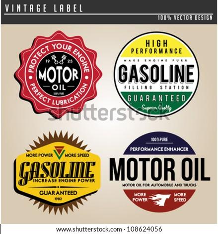 Vintage Gasoline - stock vector