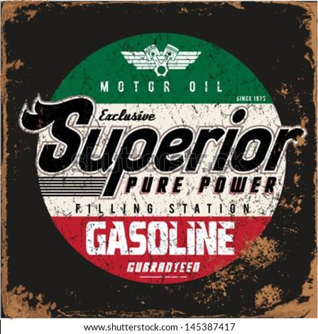 vintage gasoline   motor oil