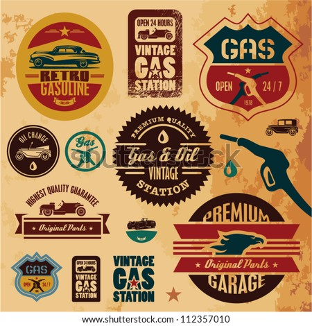 vintage gasoline retro signs