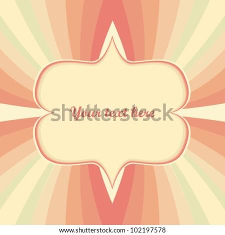 Vintage geometric greeting card