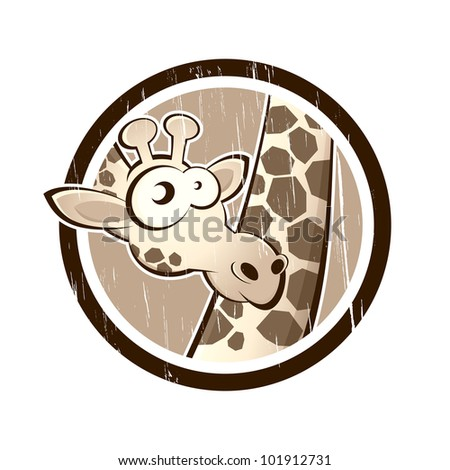 vintage giraffe in a badge