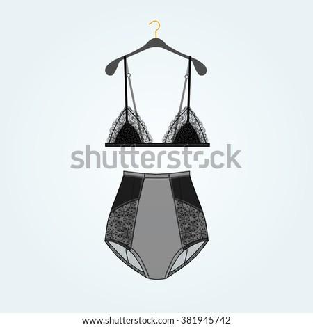 vintage glamorous lingerie