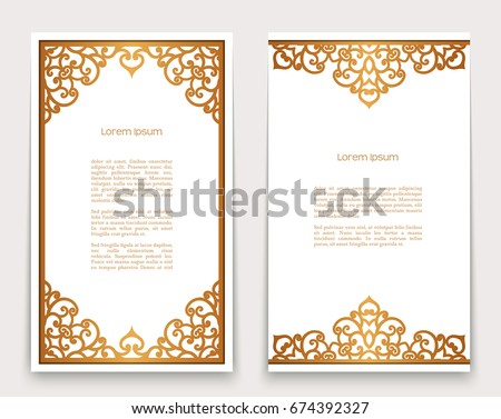 Scrollwork vector download free vector art stock graphics images vintage gold rectangle frames with ornate borders on white golden scroll embellishment vector decoration stopboris Choice Image