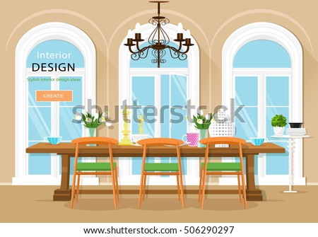 vintage graphic dining room