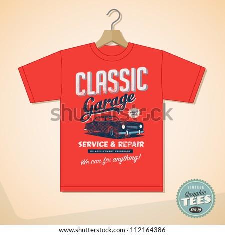 vintage graphic t shirt design