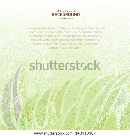 vintage green abstract vector