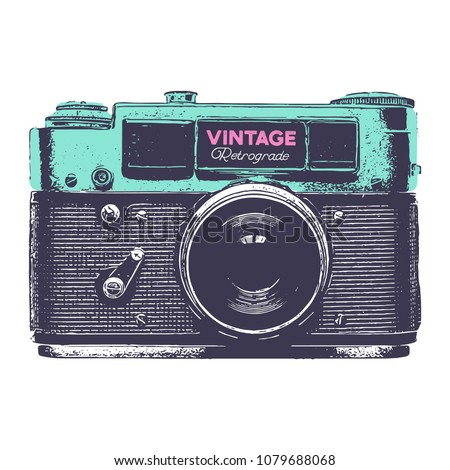 vintage green and purple retro