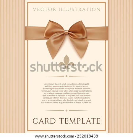 vintage greeting card template