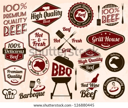 Vintage Grill Badges And Labels