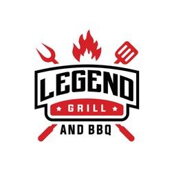 Vintage Grill Barbeque Logo Design Vector Inspiration for restaurant