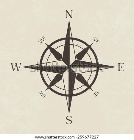 vintage grunge compass   vector