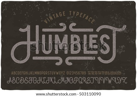 Vintage grunge font with dirty noise texture. Old letters on rusted background. - Shutterstock ID 503110090
