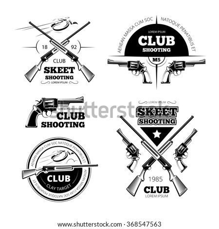 vintage gun club labels  logos