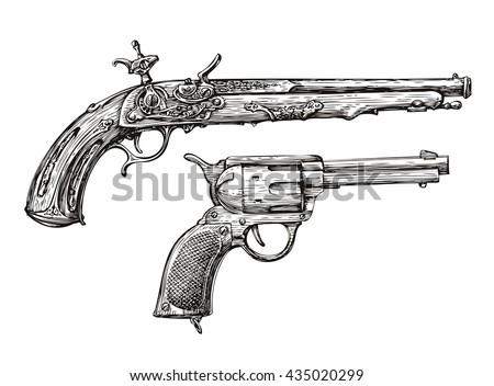 vintage gun retro pistol