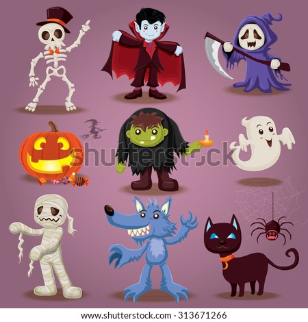 vintage halloween character