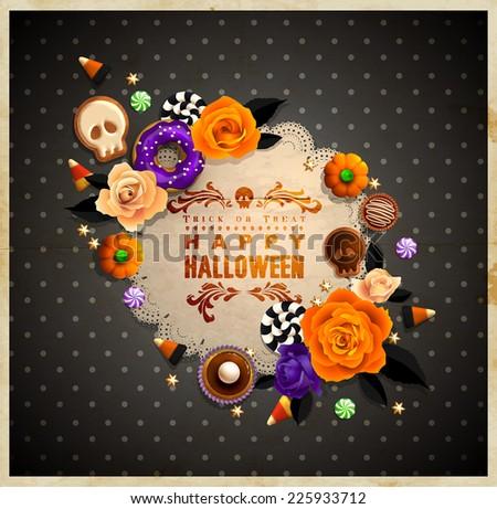 vintage halloween frame for