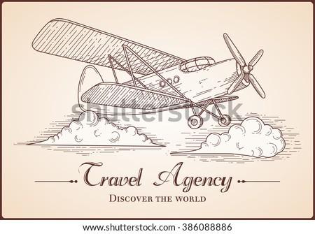 Free Vector Vintage Airplane Illustration