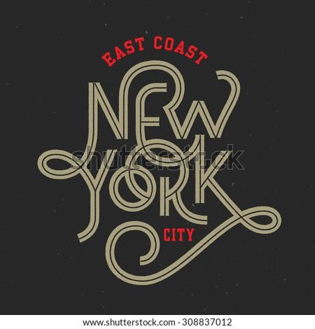 vintage hand lettered textured