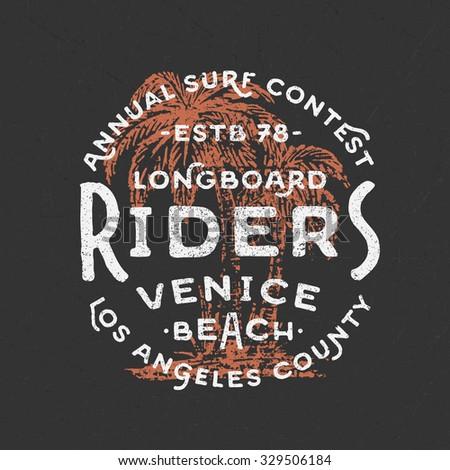 vintage hand lettered venice