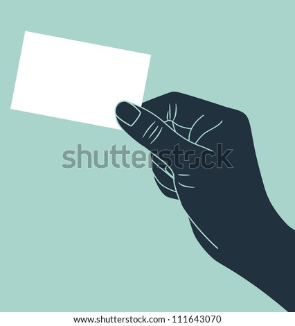 vintage hand silhouette giving