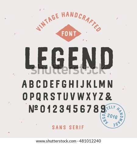 vintage handcrafted sans serif...