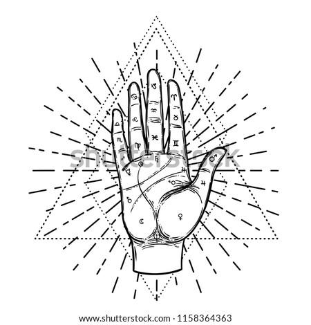 vintage hands hand drawn