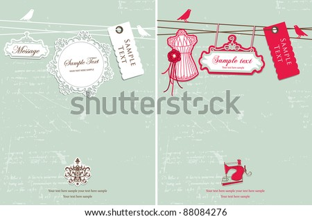 Vintage hanging tag design