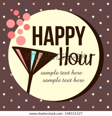 Vintage happy hour Invitation