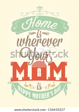 Vintage Happy Mother\'s Day Typographical Background
