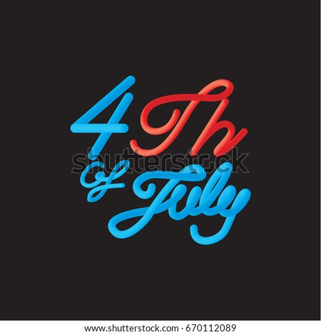 vintage happy 4 Th of July, happy labor day, the independence day of the United States of America, vector illustration - Shutterstock ID 670112089
