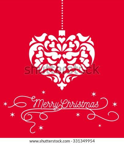 vintage heart christmas heart