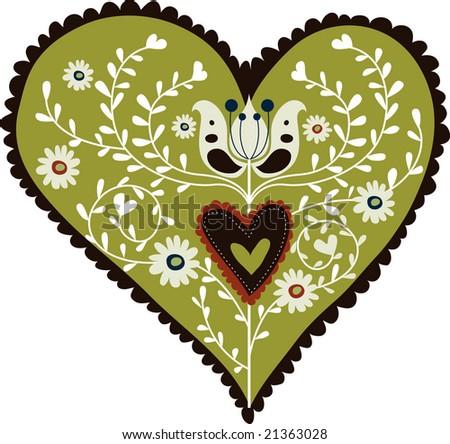 Vintage Hearts Vector Vintage Heart Design