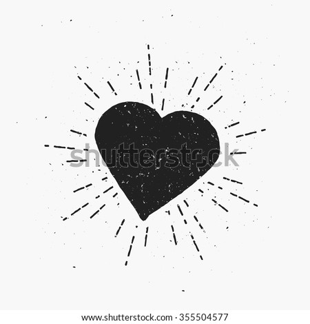 vintage heart illustration