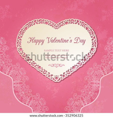 Vector Images Illustrations And Cliparts Vintage Heart Shaped