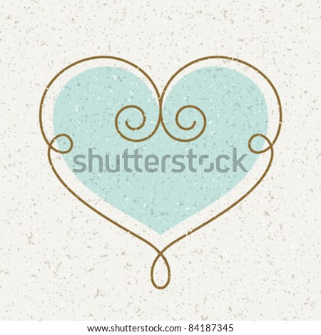 Vintage heart vector illustration as design element. Eps 10.