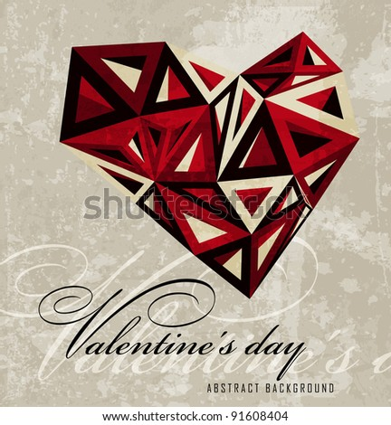 Vintage Hearts Valentine's day abstract background