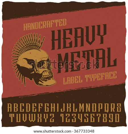 vintage heavy metal label