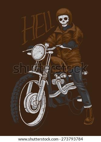 vintage hell rider vector