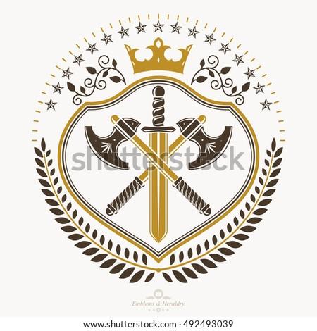 vintage heraldry design