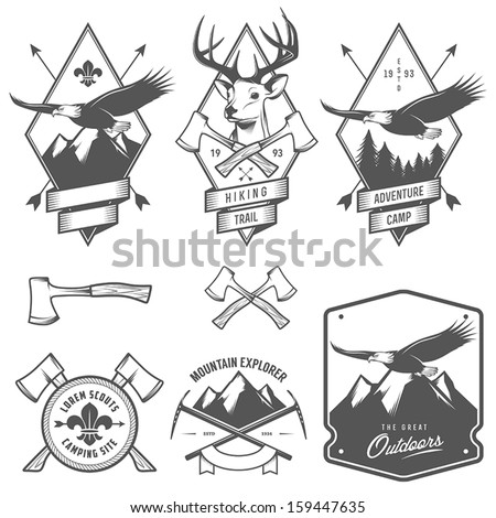 vintage hiking and camping...