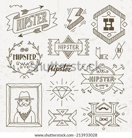 Hipster Design Elements Design Elements Set 8