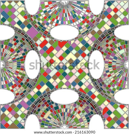 vintage hipster mosaic